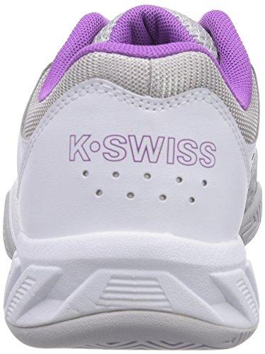 K-Swiss Performance - KS TFW BIGSHOT LIGHT-WHT/GLLGRY/DWBRRY/ORCHDI, Scarpe da tennis da donna bianco (WHT/GLLGRY/DWBRRY/ORCHDI)