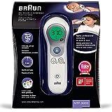 Braun Thermomètre Sans Contact + Frontal, NTF3000