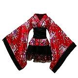 Vokaer Costume Traditionnel Japonais Robe de ménage Kimono Cosplay Costume Femme de...