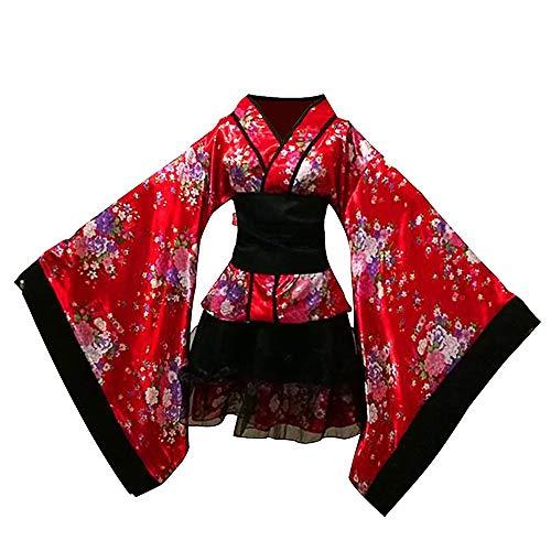 Vokaer Japanisches traditionelles Dienstmädchen Kleid Kimono Cosplay Outfit Dienstmädchen Anzug Halloween - Dienstmädchen Kostüm Japanische
