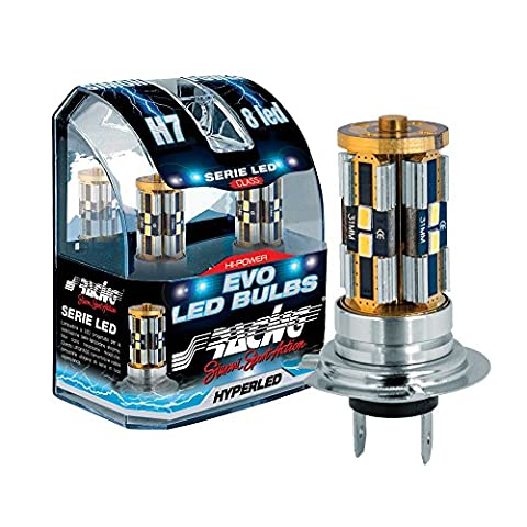 Simoni Racing EL7 Type H7 LED Bulbs, Set of 2