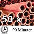 50x Wachsfackel Fackel - Brenndauer ca. 90 min Gartenfackel Wachsfackeln