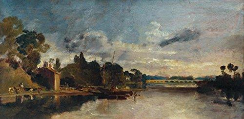 Das Museum Outlet-Die Themse in der Nähe Walton Bridges-Poster Print Online kaufen (101,6x 127cm)