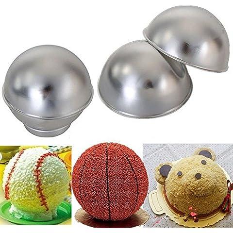 Paleo Molde para pasteles en forma de juego de moldes para hornear creativa balones deportivos 3d