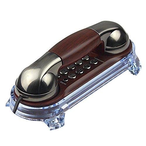 Telefon Fest Verdrahtet Telefon Retro Wandtelefon Home Hotel Antikes Festnetz Größe 197 * 86 * 79mm (Farbe : Rotes Kupfer) - Rote Antike Wandleuchte