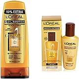 L'Oreal Paris 6 Oil Nourish Conditioner Scalp and Hair 192.5ml (175ml+17.5ml Free) + L'Oreal Paris Smooth Intense Instant Smoothing Serum, 100ml