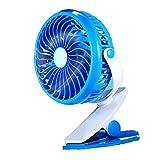 Skitic Mini USB Clip Ventilator mit Batteriebetrieben, Tischventilator Fan mit 360°Drehbare Leise für Schlafzimmer Büro Kinderwagen Auto Camping