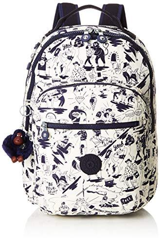 578d85647 Kipling CLAS SEOUL Mochila escolar, 45 cm, 25 liters, Multicolor (Colab  Print
