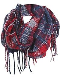 Tefamore Femmes Echarpe foulards longue de cou de châle de laine de  cachemire de point coloré e82a6558b2e
