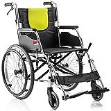 Tx Rollstuhl verstärkte Aluminiumlegierung aufblasbarer zusammenklappbarer weicher Sitz beweglicher älterer untauglicher Roller manueller Rollstuhl das größte Lager 100kg Größe: 96 * 66 * 88cm