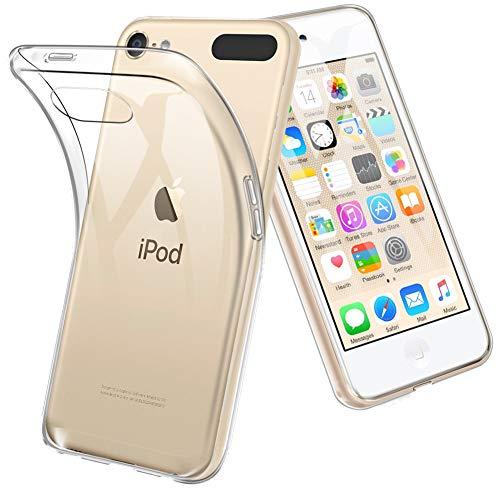 Custodia apple ipod touch 6, topace cover trasparente crystal anti-graffio in tpu silicone morbida per apple ipod touch 6