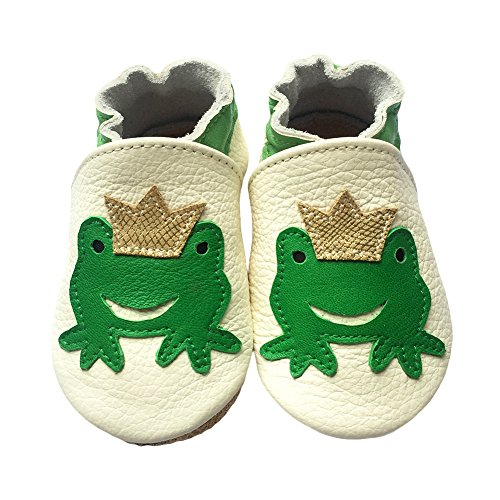 LPATTERN Unisex Baby boys Girls Cute Soft Leather Baby First Walking Shoes with Suede Soles Crib Shoes Infant Toddler Prewalker Pram Shoes
