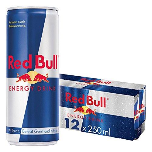 Red Bull Energy Drink Dosen Getränke 12er Palette, EINWEG (12 x 250 ml) - Getränke-einheit