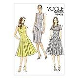 Vogue Damen Schnittmuster 9102gerade und Flared Kleider mit Godets + Gratis Minerva Crafts Craft Guide