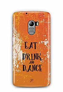 YuBingo Eat, Drink & Dance Designer Mobile Case Back Cover for Lenovo A7010