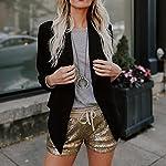 ❤️Shorts Femme, Amlaiworld Mode Pantalons Femme Shorts de Sequins Shorts de Taille Moyenne Shorts de Poche Sexy Causalité Hot Pants
