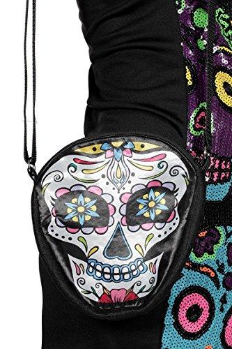 Tag der Toten Umhängetasche Tasche Träger Schädel Bunt Bag Halloween Karneval (Tasche-tag)