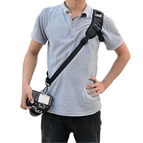 EQLEF® Camera Shoulder Sling Black Belt Strap for Digital SLR/DSLR Damping Strap (underarm strap and the camera not include)