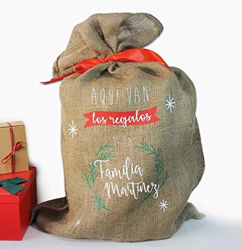 Saco navidad personalizable con nombre/familia