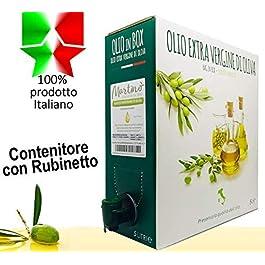 Frantoio Oleario Martino Alfonso – 5lt BAG in BOX – Olio Extra vergine di oliva 100% Italiano estratto a freddo