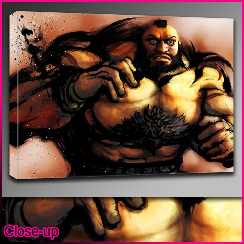Street Fighter Iv Zangief Framed Ready To Hang Canvas By