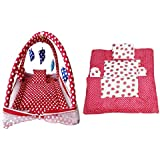 Krishna Kids Toy Polka Dots Baby Play Gym And Polka Dots Beautiful And Attractive Baby Bedding Set (Pack Of 2)- Exclusive