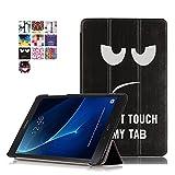Samsung Galaxy Tab A T585N SmartShell Hülle Case Cover Tasche Skin - Ultra Slim Superleicht PU Leder Tasche Smart Case Cover Schutzhülle für Samsung Galaxy Tab A (2016) SM-T580N/T585N 25,54 cm (10,1 Zoll) (#2 Schwarz & weiß)