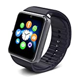 Yarrashop Bluetooth Smart watch Andriod Uhr Intelligente Touchscreen Armbanduhr Smart Uhr Armband Sport Uhr mit /Kamera/Schrittzähler/Schlaftracker/Romte Capture Telefon Kompatible Andriod Smartphones für Herren Damen