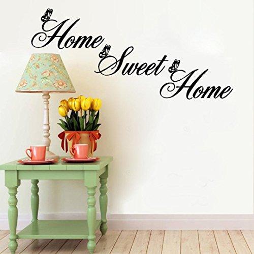Saingace Home Sweet Home Decor Wandaufkleber DIY abnehmbare Kunst Vinyl-Wand-Aufkleber Wandaufkleber Wandtattoo Wandsticker (Home Decor Diy)