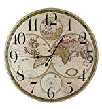 Weltkarte 60cm Durchmesser Wanduhr
