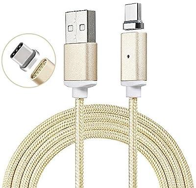 Charge rapide Câble magnétique Type C Câble renforcé renforcé Nylon Type C Câble USB / Câble chargeur - [Aimant fort] [USB-C vers USB A] [Supporte une charge rapide] POUR Google Pixel XL, Google Pixel par Gadget Giant®