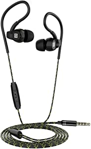 Sports Earphones Langsdom SP80B Earbuds waterproof with mic and volume control clear sound for gym,workout (Black) …