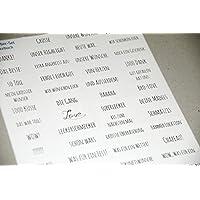 Sticker zum Gästebuch gestalten