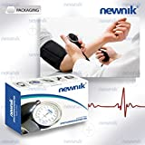 Newnik SP602 Aneroid Sphygmomanometer - Professional Blood Pressure Monitor with Cuff and Carrying Case (Black)