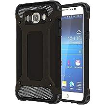 Coque Samsung Galaxy J7 2016,Armure Case avec Construit à Support,Slynmax Dual Layer Etui Housse de Protection pour Samsung Galaxy J7 2016 Défense de protection Antichoc Couverture Robuste Couche de S