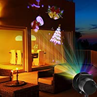 Christmas Party LED Light Projector 12 Patterns Waterproof Landscape Spotlight for Christmas Halloween Birthday Wedding Party Outdoor Indoor Yard Wall Home Decor from MIKAFEN