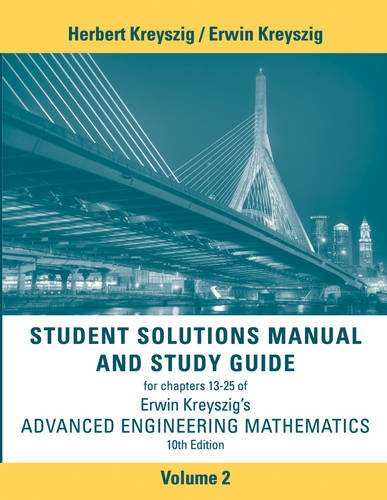 Advanced Engineering Mathematics 10E Student Solutions Manual Volume 2