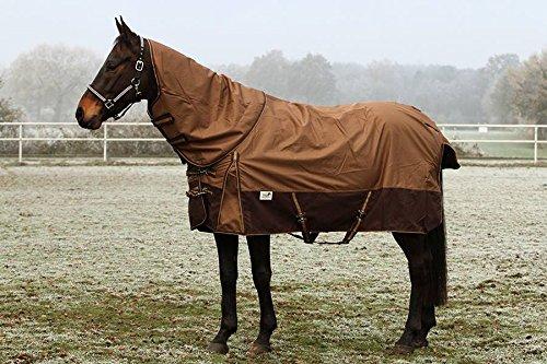 1200 Denier Regendecke Braun ohne Füllung Fleece Lining 145 155 Outdoordecke Weidedecke Winterdecke Regendecke Tysons Breeches (MIT Halsteil, 155 cm)