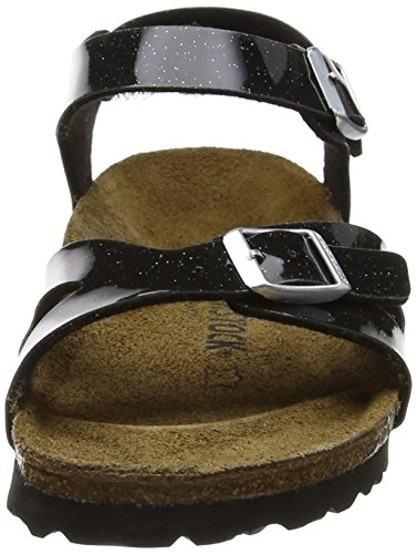 Birkenstock Rio, Bride cheville fille Noir (Noir Magic Galaxy Black)