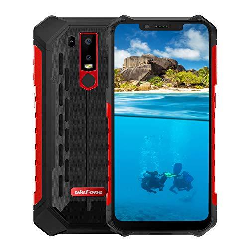 Ulefone Armor 6S Smartphone - IP68 impermeabile 6.219: 9 Schermata FHD Helio P70 6GB + 128GB Android 9.0 Telecamera posteriore doppia 21MP + 13MP 5000mAh 9V/2A NFC Globale Telefono Rosso
