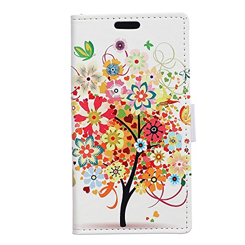 iPhone X Coque, Voguecase Étui en cuir synthétique chic avec fonction support pratique pour Apple iPhone X (Rose)de Gratuit stylet l'écran aléatoire universelle arbre coloré