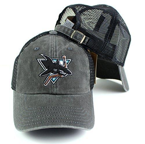 San Jose Sharks NHL American Nadel Raglan Knochen Team Logo Mesh Rückseite Slouch Twill Cap Twill Mesh Cap