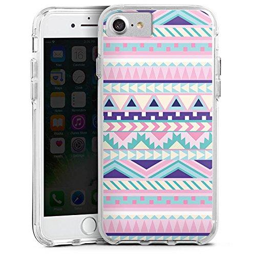 Apple iPhone 6 Bumper Hülle Bumper Case Glitzer Hülle Zacken Girl Pattern Bumper Case transparent