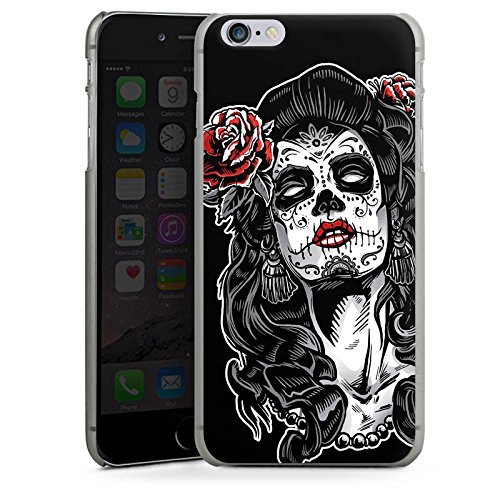 Apple iPhone X Silikon Hülle Case Schutzhülle Zombie Catrina Halloween Hard Case anthrazit-klar