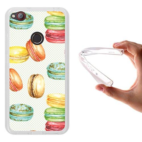 WoowCase ZTE Nubia Z11 Mini Hülle, Handyhülle Silikon für [ ZTE Nubia Z11 Mini ] Aquarell Makronen Handytasche Handy Cover Case Schutzhülle Flexible TPU - Transparent