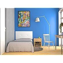 LA WEB DEL COLCHON Cabecero de Cama tapizado Acolchado Julie 115 x 55 cms. para