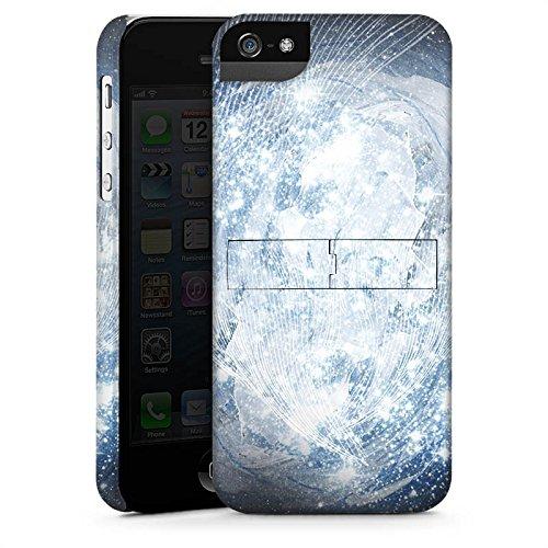 Apple iPhone 5s Housse Étui Protection Coque Univers Galaxie Galaxie CasStandup blanc