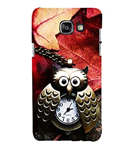 Brass Owl Watch with Autumn Leaves 3D Hard Polycarbonate Designer Back Case Cover for Samsung Galaxy A3 (2016) :: Samsung Galaxy A3 2016 Duos :: Samsung Galaxy A3 2016 A310F A310M A310Y :: Samsung Galaxy A3 A310 2016 Edition