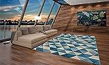 WEBTAPPETI Tappeto SITAP Moderno Disegno Geometrico a Rombi - Tappeto Disponibile in 4 Misure Capri 32381-6287 80x150