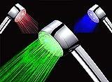 Temperaturgesteuerter Led Duschkopf | Design Duschbrause Handbrause | ***LED beleuchtet in blau, rot und grün*** FUNKTIONIERT OHNE BATTERIEN!
